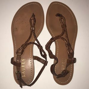 Like new tan/brown Lauren by Ralph Lauren sandals